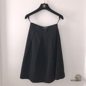 Aritzia Black High Waisted A-line Knee Skirt sz00